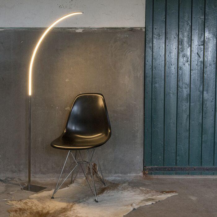 Lámpara-de-pie-moderna-acero-LED-regulador-3-estados---STYLISH