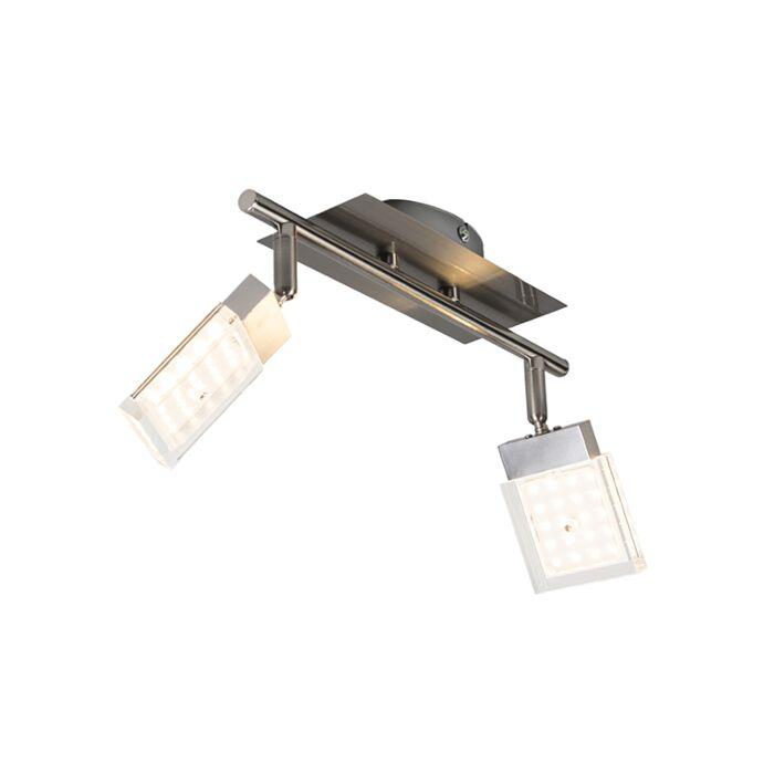 Plafón-ROBO-2-LED-acero