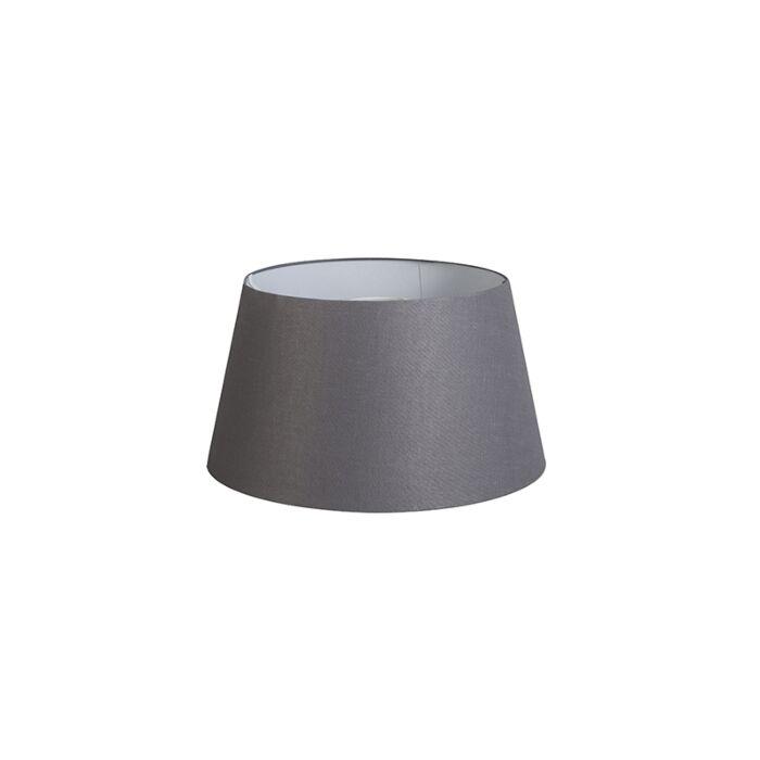 Pantalla-32cm-cónica-DS-E27-lino-gris-oscuro