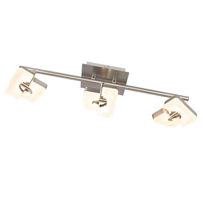 Plafón-moderno-acero-orientable-LED---TWIN-3