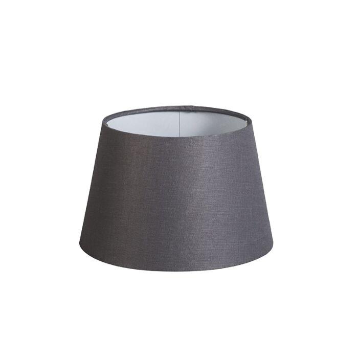 Pantalla-20cm-cónica-DS-E27-lino-gris-oscuro