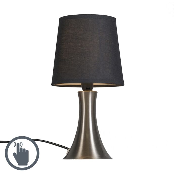 Lámpara-de-mesa-WINK-negra-táctil