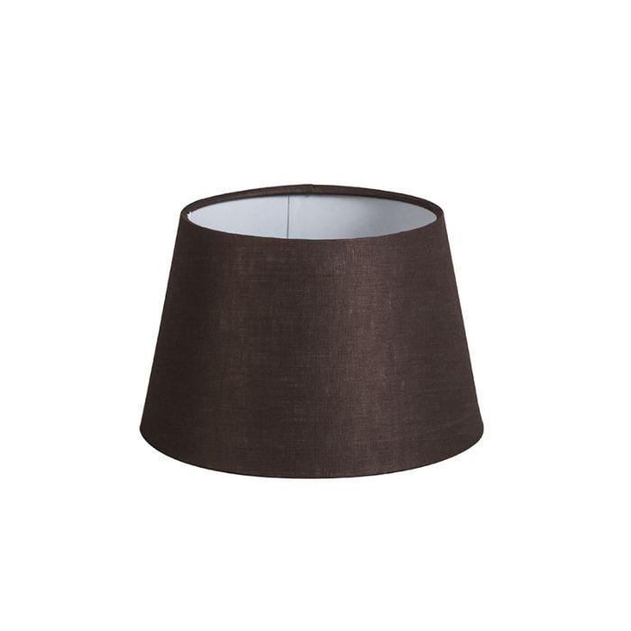Pantalla-20cm-cónica-DS-E27-lino-marrón