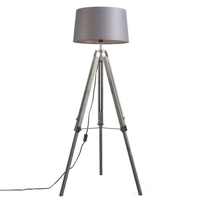 Trípode-diseño-pantalla-lino-gris-oscuro-45cm---TRIPOD