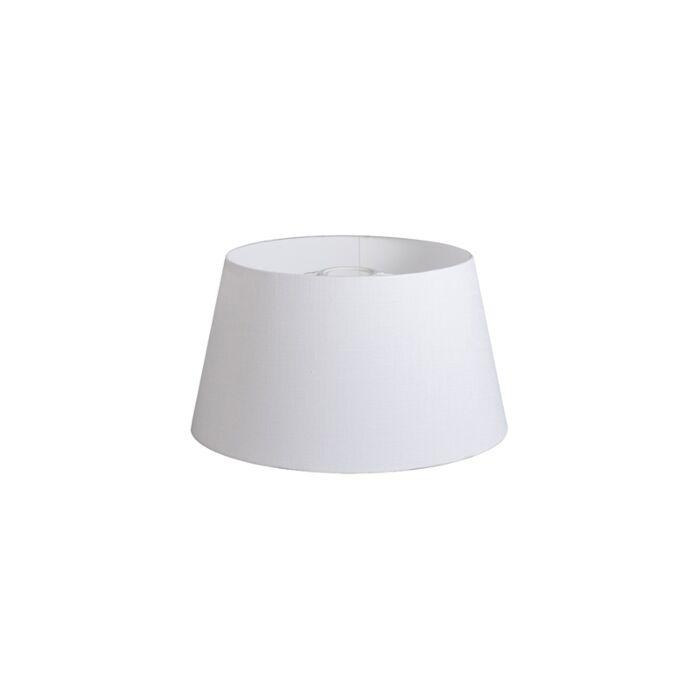 Pantalla-32cm-cónica-DS-E27-lino-blanca