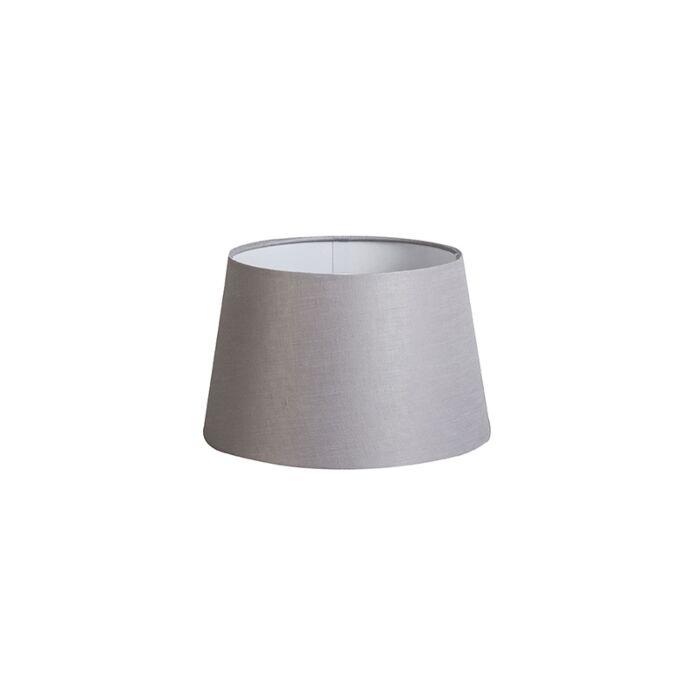 Pantalla-25cm-cónica-DS-E27-lino-gris-claro