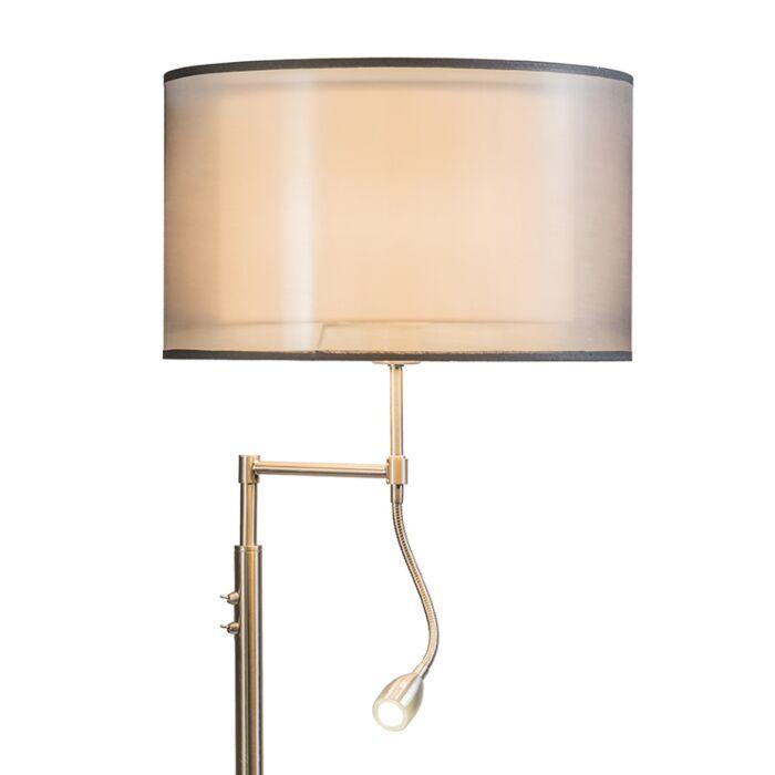 Lámpara-de-pie-ISEO-con-pantalla-y-brazo-de-lectura