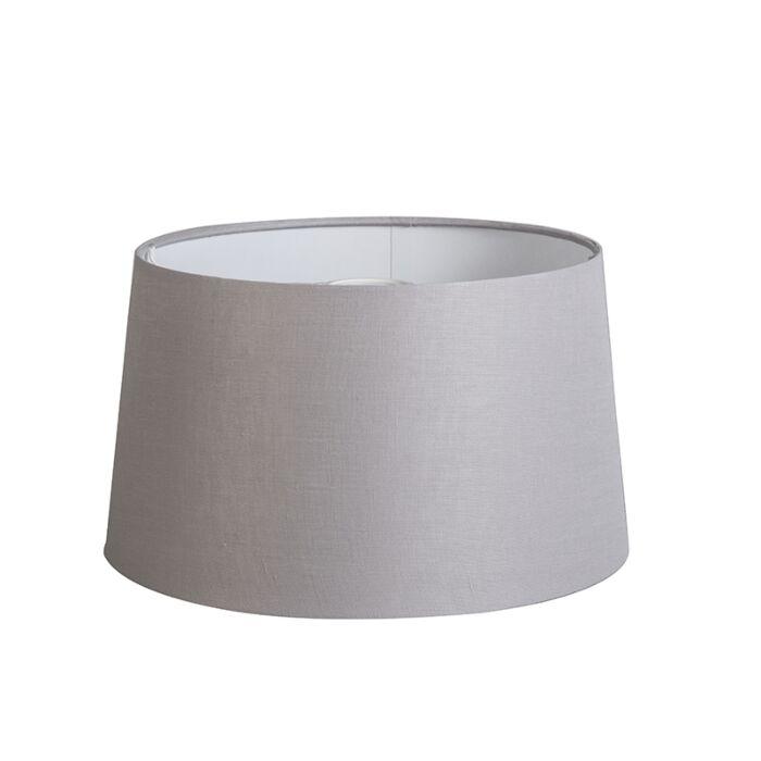 Pantalla-35cm-cónica-DS-E27-lino-gris-claro