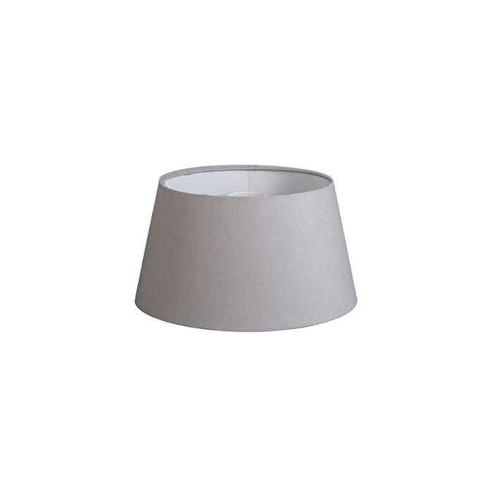 Pantalla-32cm-cónica-DS-E27-lino-gris-claro
