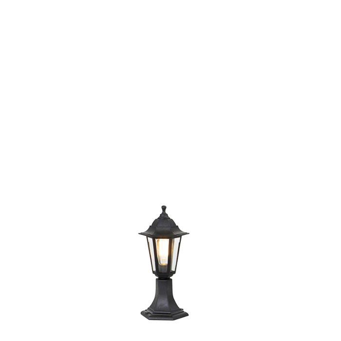Farol-romántica-negra-42cm-IP44---NEW-HAVEN