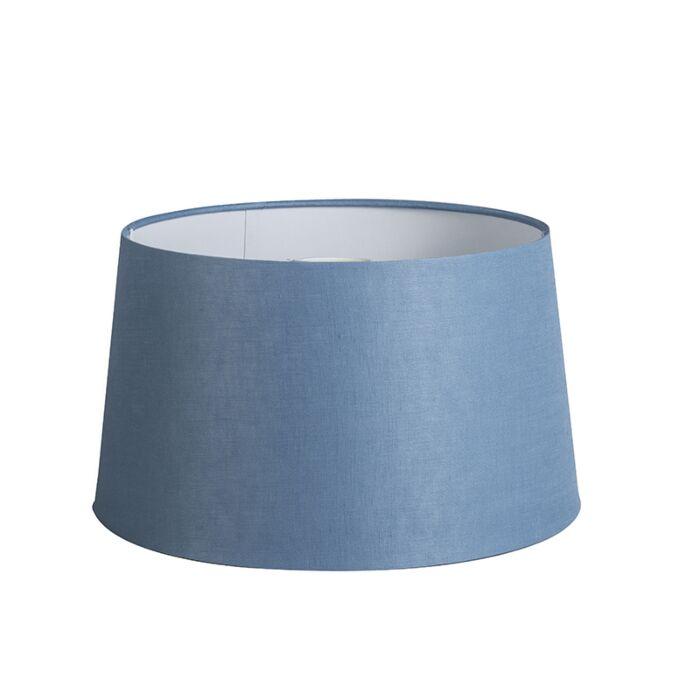 Pantalla-35cm-cónica-DS-E27-lino-azul
