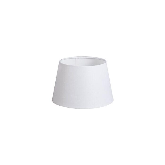 Pantalla-20cm-cónica-DS-E27-lino-blanca