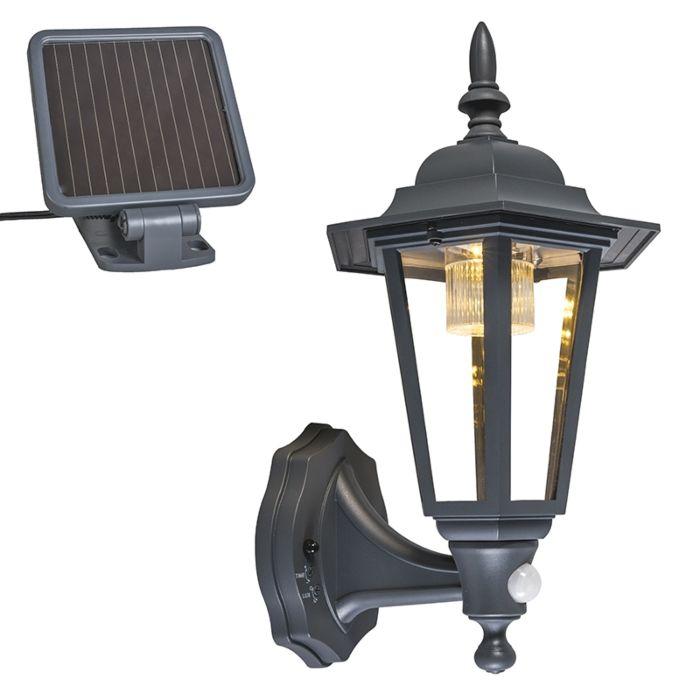 Aplique-antracita-LED-solar-IP44--NEW-YORK