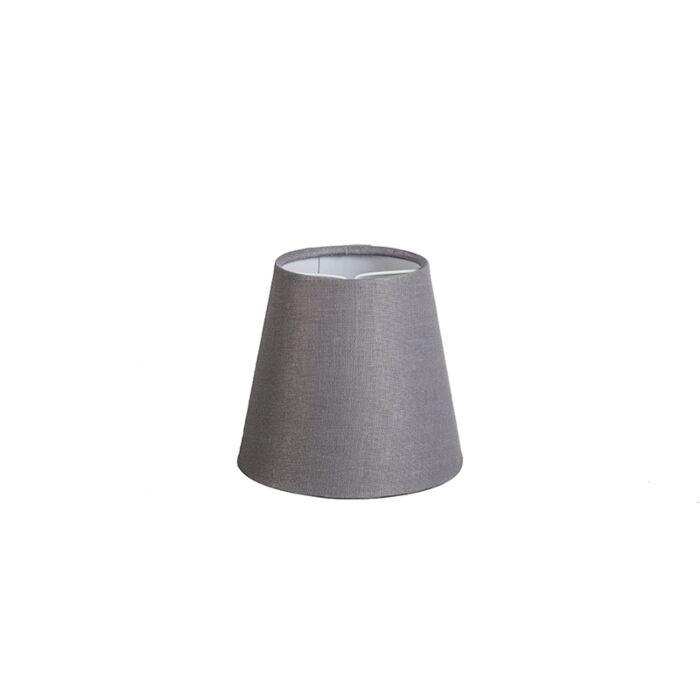 Pantalla-lino-gris-12cm-redonda