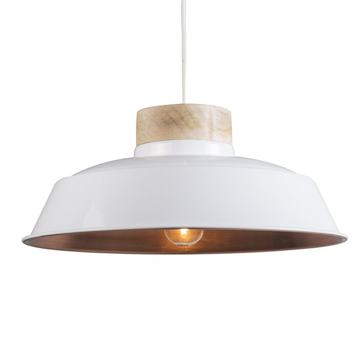 Lámpara-colgante-DAVIDE-blanco-y-cobre