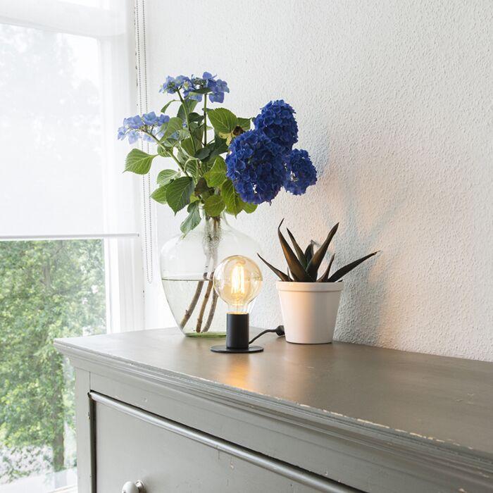 Lámpara-de-mesa-moderna-negra---FACIL-