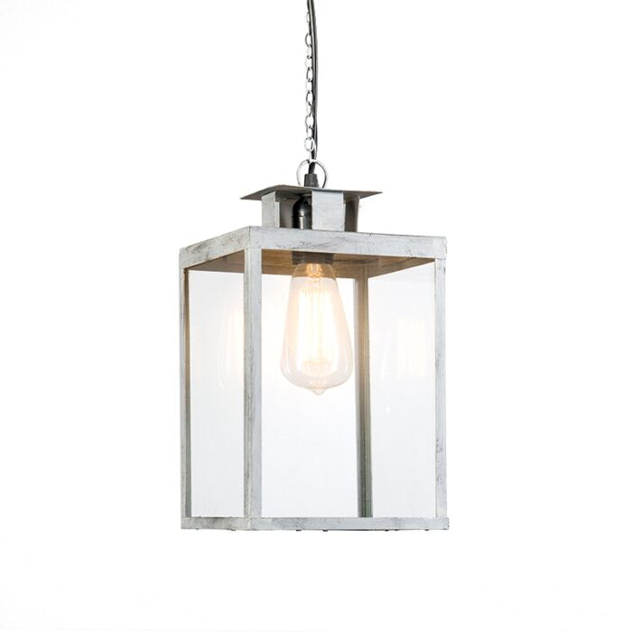 Lámpara-colgante-LANTERN-gris-envejecido