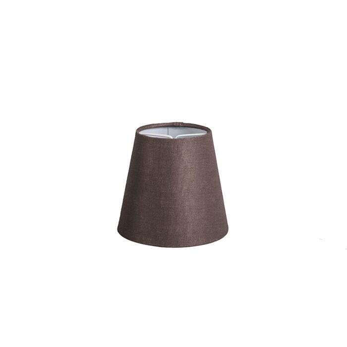 Pantalla-lino-marrón-12cm-redonda