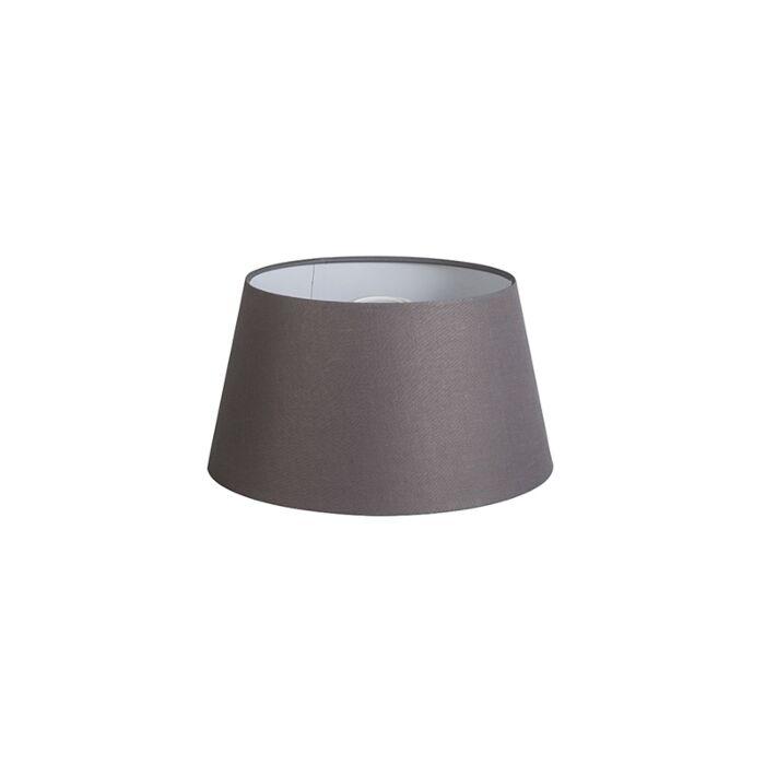 Pantalla-32cm-cónica-DS-E27-lino-gris-marrón
