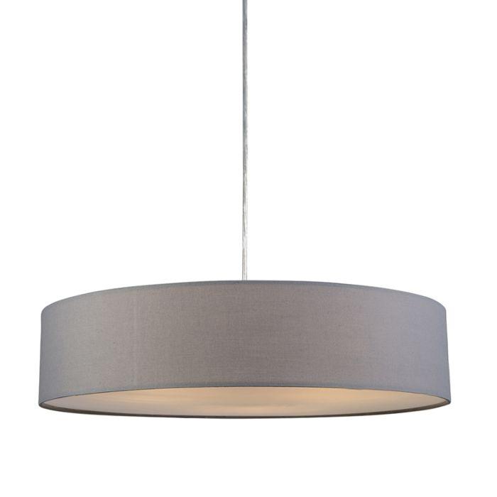 Lámpara-colgante-DRUM-Basic-50-gris