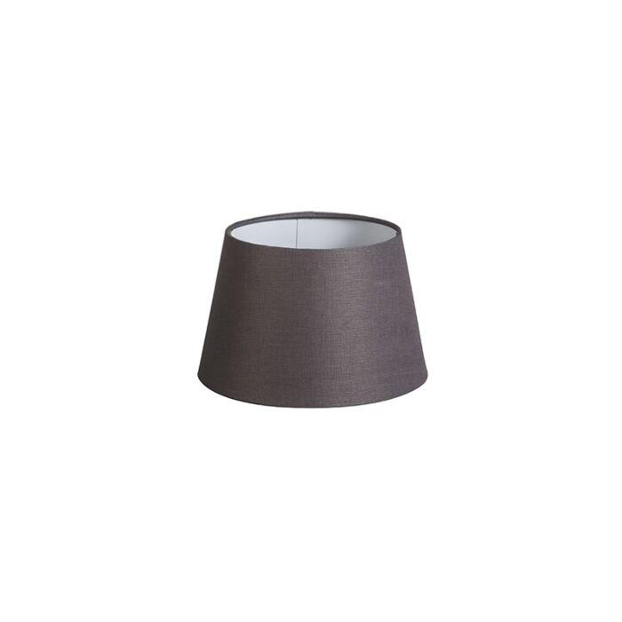 Pantalla-20cm-cónica-DS-E27-lino-gris-marrón