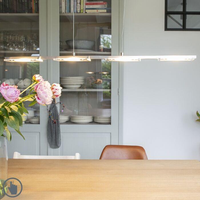 Lámpara-colgante-acero-plástico-regulador-LED---VITRO