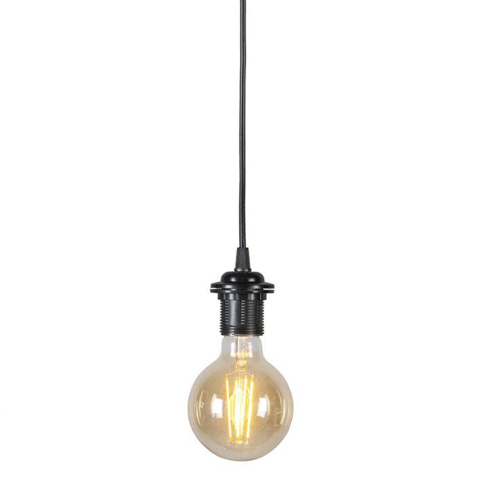 Lámpara-colgante-80-cm-E27-negro