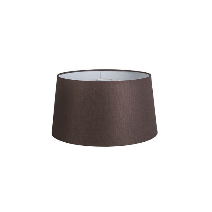 Pantalla-40cm-cónica-DS-E27-lino-marrón