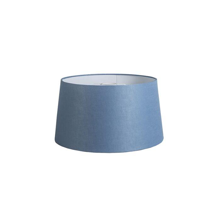 Pantalla-40cm-cónica-DS-E27-lino-azul