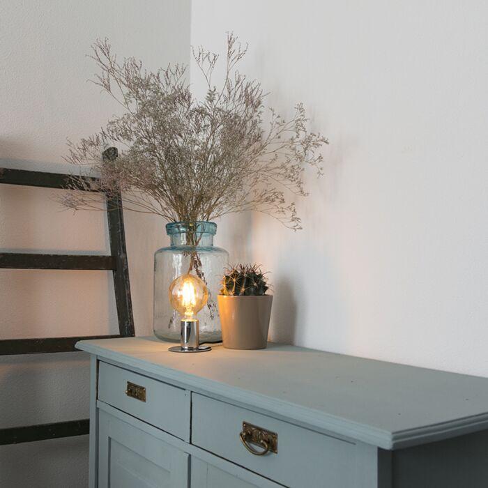 Lámpara-de-mesa-moderna-cromada---FACIL-