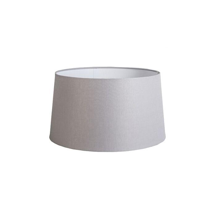 Pantalla-45cm-cónica-DS-E27-lino-gris-claro