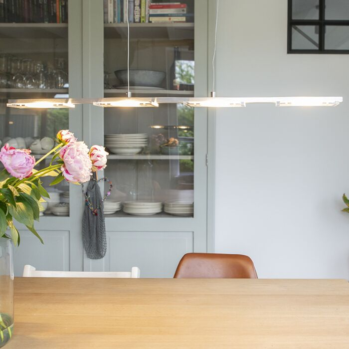 Lámpara-colgante-acero-vidrio-regulador-táctil-LED---VITRO