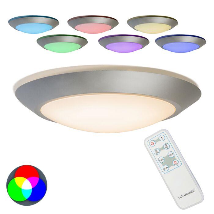 Plafón-CAPTUR-RGB-LED-gris-con-mando-a-distancia