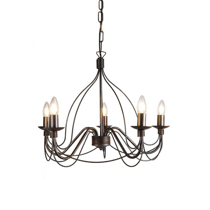 Lámpara-de-araña-clásica-marrón---ZERO-Branco-5