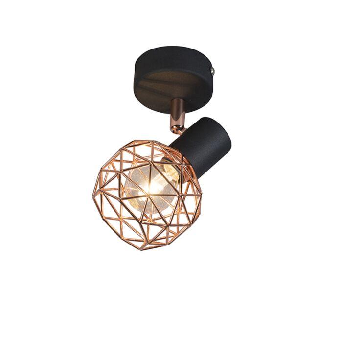 Foco-moderno-negro/cobre---MESH