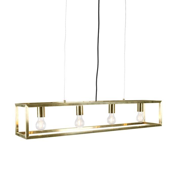 Lámpara-colgante-oro---CAGE-4-