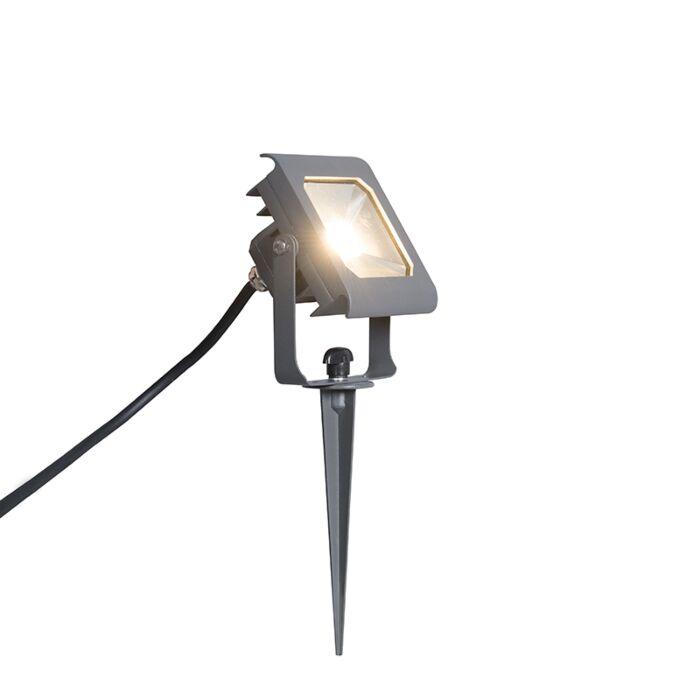 Proyector-LED-RADIUS-2-10W-gris-oscuro-con-estaca