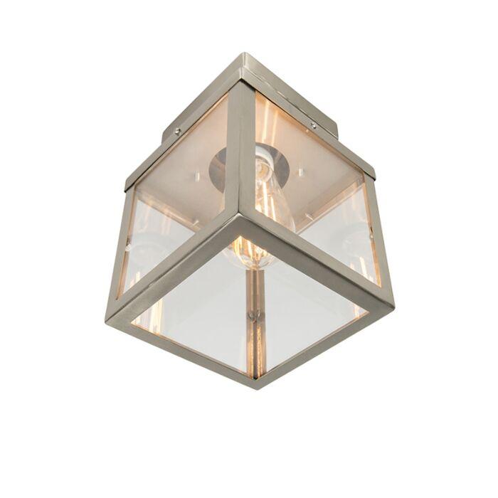 Plafón-exterior-moderno-acero-1-luz---ROTTERDAM