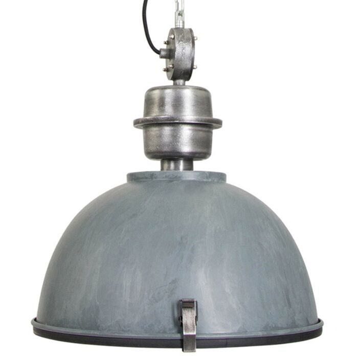 Lámpara-colgante-industrial-gris-hormigón-acero---GOSPODIN