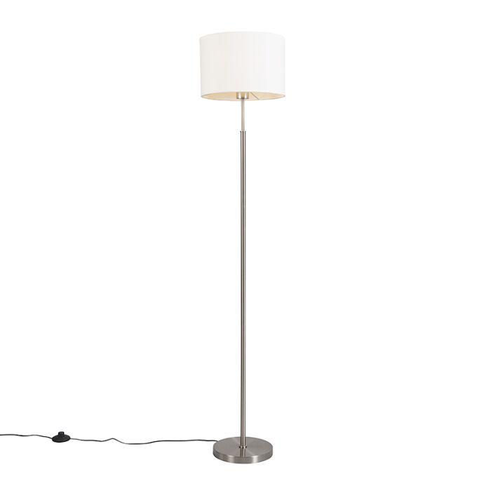 Lámpara-de-pie-moderna-redonda-blanca---VT-1