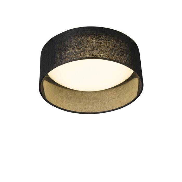 Plafón-negro-28cm-LED---DRUM-COMBI-