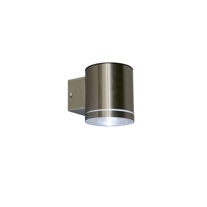 Aplique-acero-LED-crepuscular-solar-IP44---ETA