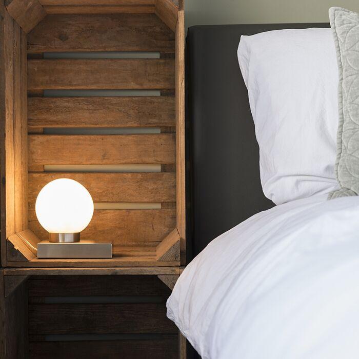 Lámpara-de-mesa-STOL-acero-redondo-táctil