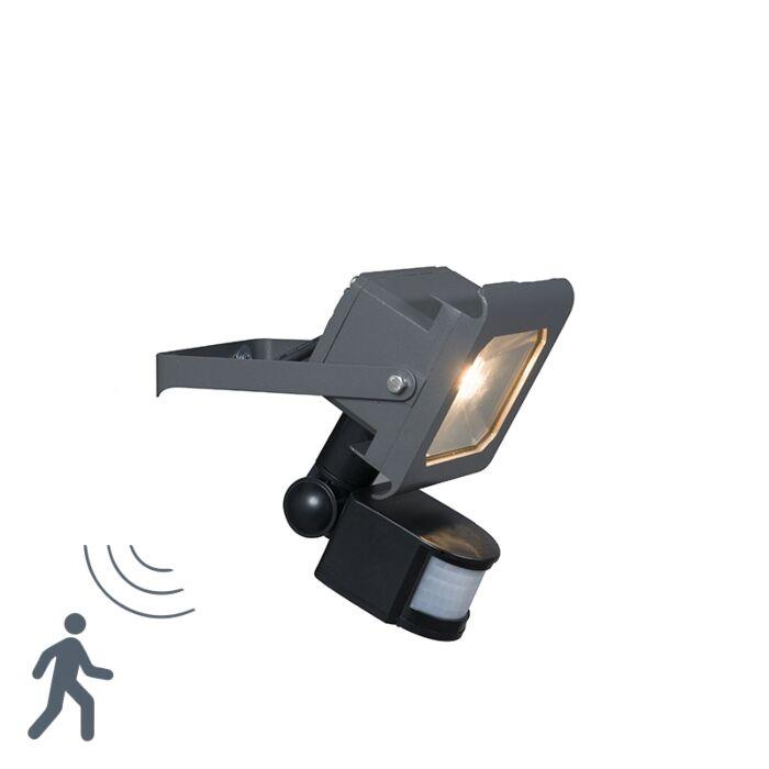 Proyector-LED-RADIUS-2-10W-gris-oscuro-con-sensor-de-movimiento-PIR