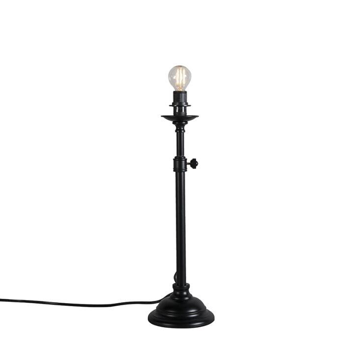 Lámpara-de-mesa-clásica-negra-ajustable-sin-pantalla---Accia