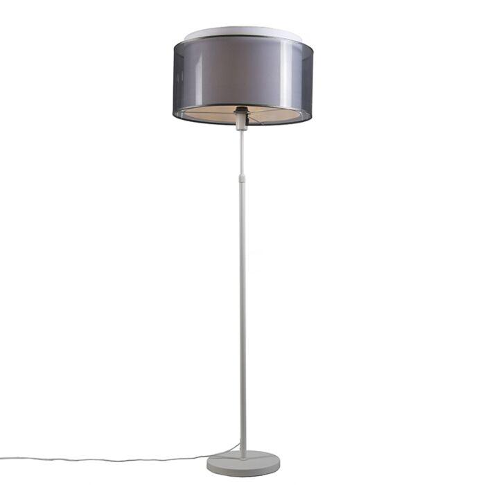 Lámpara-de-pie-blanca-con-pantalla-negra-/-blanca-47-cm-ajustable---Parte