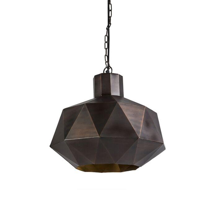 Lámpara-colgante-Art-Deco-cobre---TRIANGA