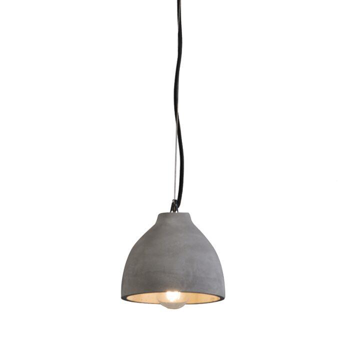 Lámpara-colgante-CAMPANA-hormigón