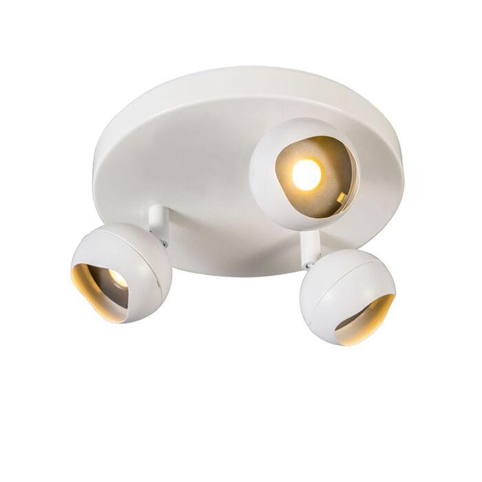 Plafón-GLOOB-3-LED-3000K-redondo-blanco