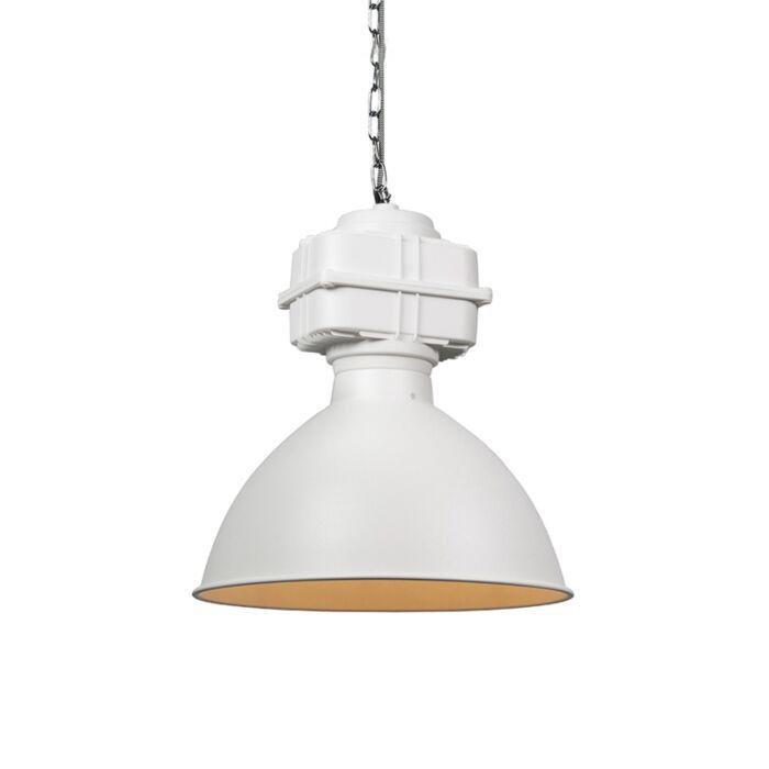 Lámpara-colgante-industrial-pequeña-blanca-mate---SICKO